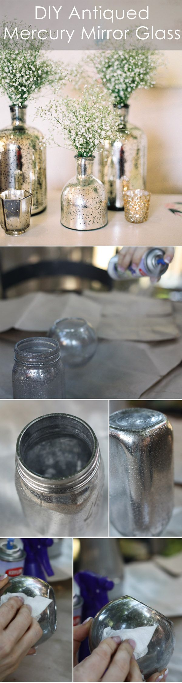 20 Beautiful Diy Mercury Glass Paint Ideas Noted List