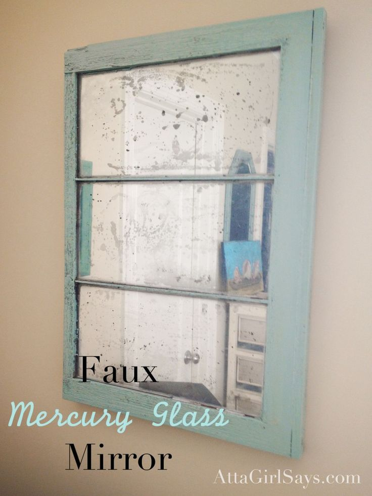 Spay Paint an Old Window to Get a Vintage Look
