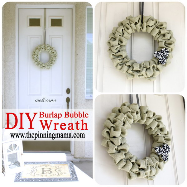 DIY Burlap Bubble Wreath Tutorial