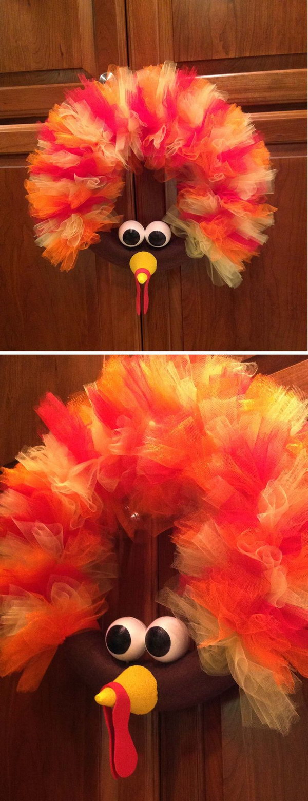 Turkey Tulle Wreath Tutorial