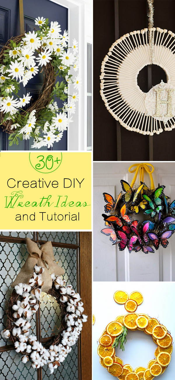 Lots of Creative DIY Wreath Ideas and Tutorials!
