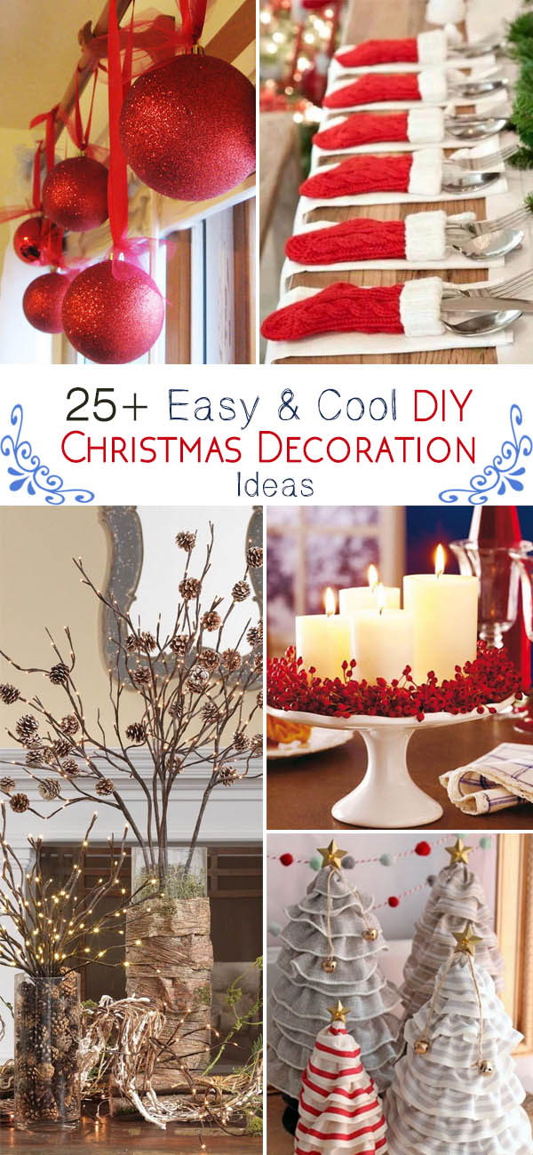 easy cool diy christmas decoration ideas
