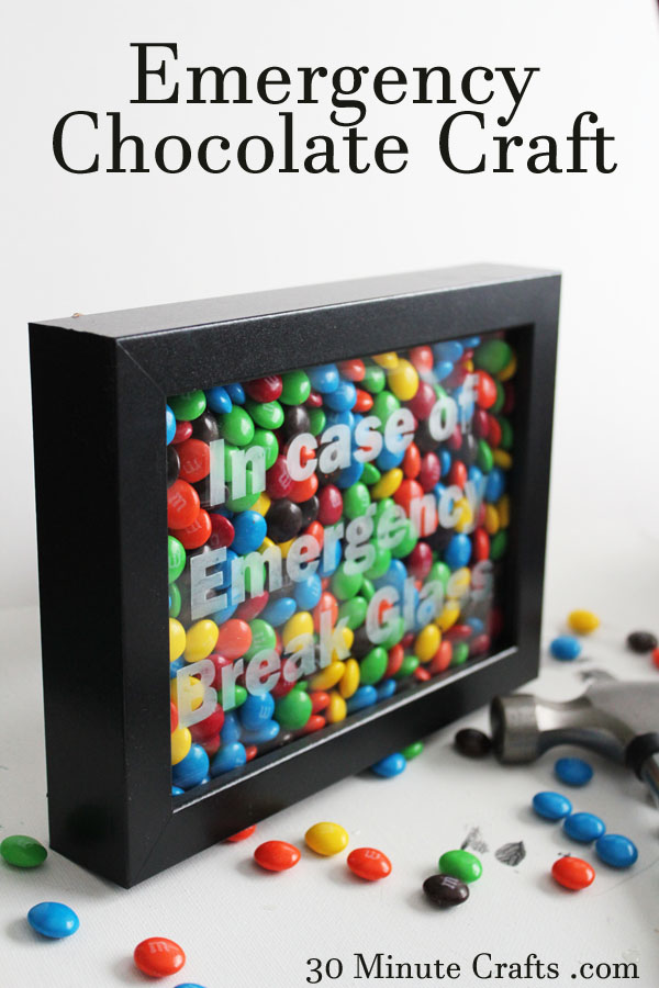 Emergency Chocolate Craft.