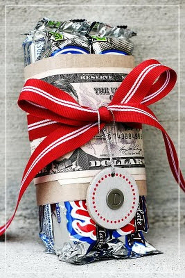 Money and Candy Gift Wrap.