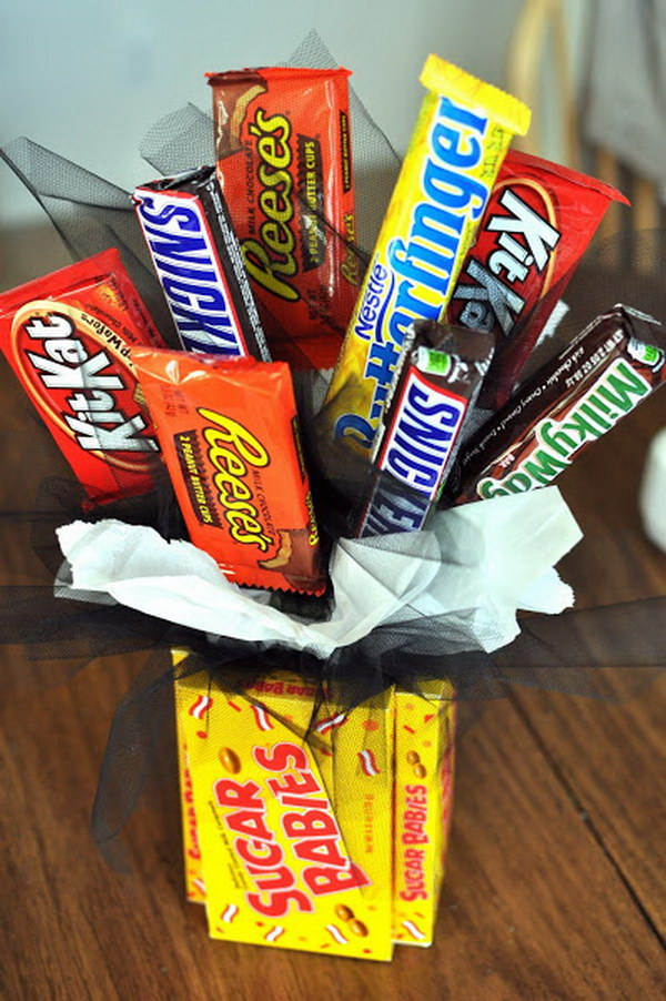 Candy Bouquet Gift Idea.