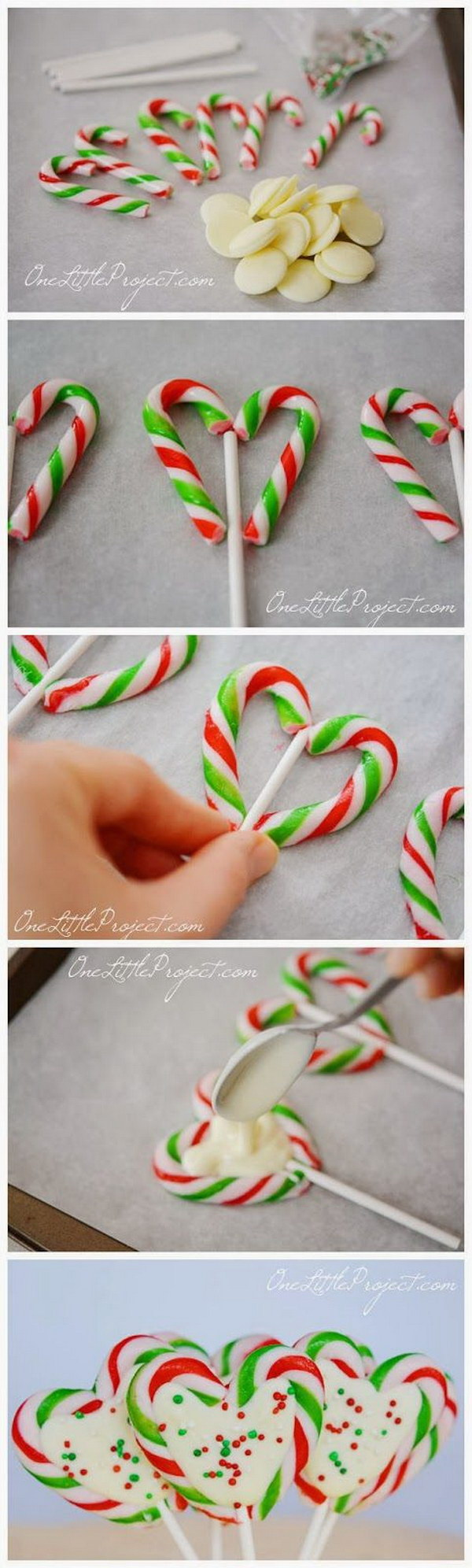 Candy Cane Hearts Pops.