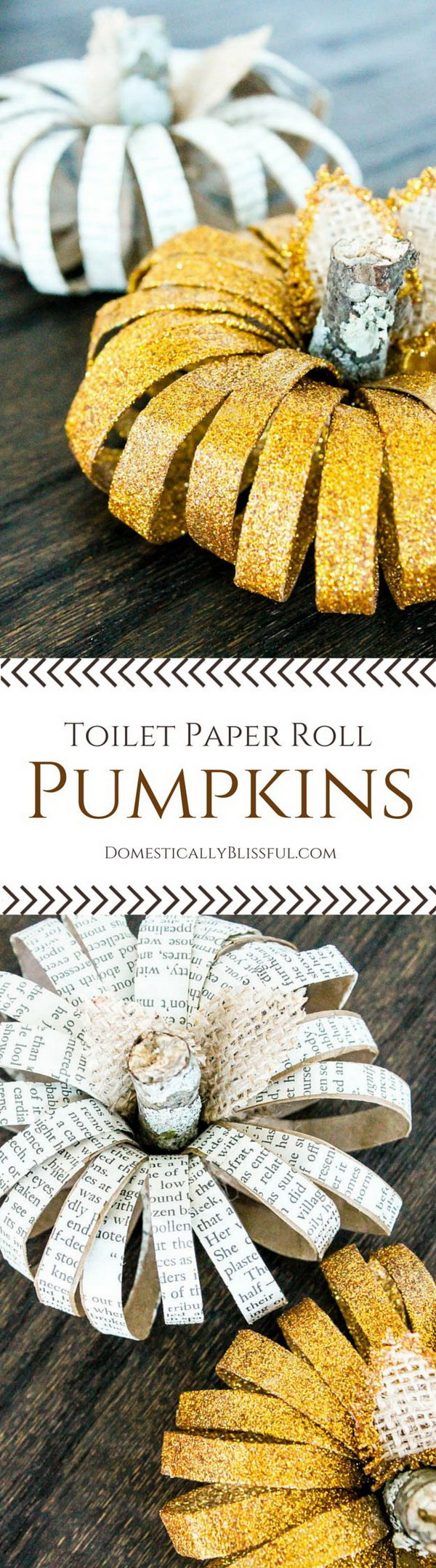 DIY Toilet Paper Roll Pumpkins