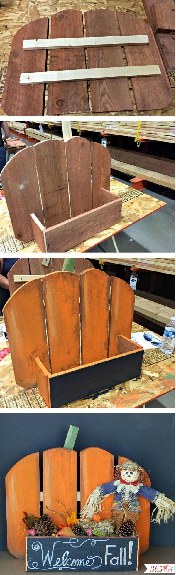 DIY Rustic Pallet  Pumpkin Stand