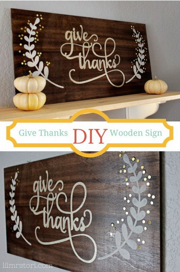 DIY Wooden Sign for Thanksgiving