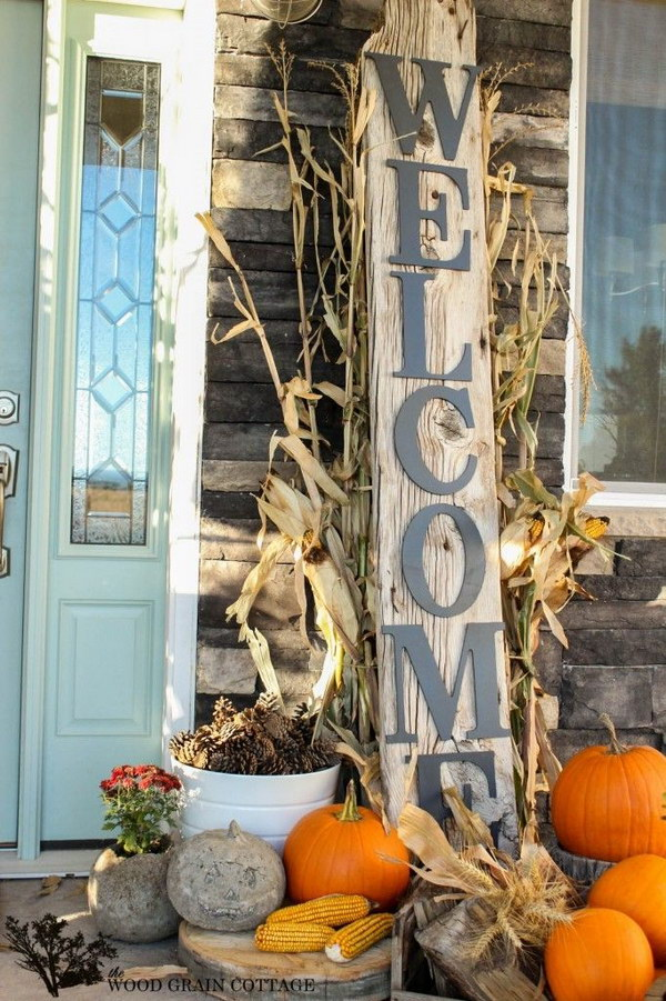 DIY Rustic Welcome Sign