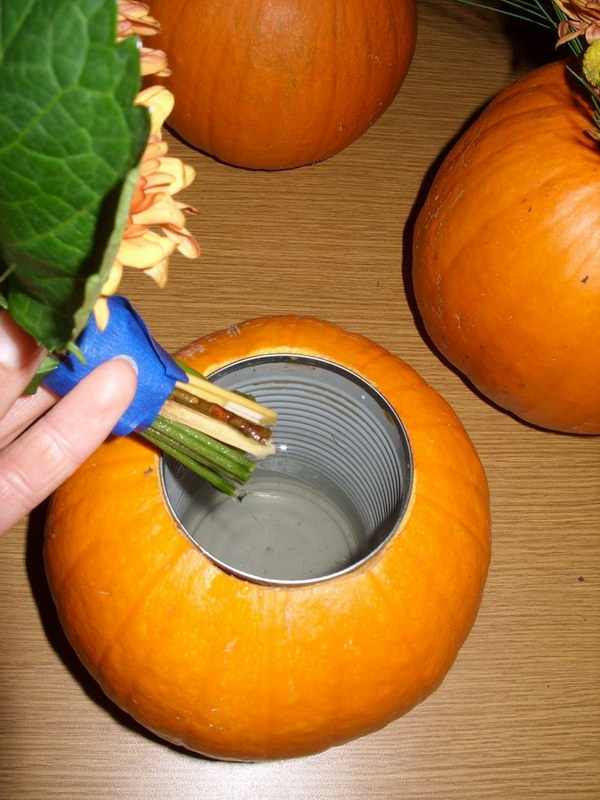 DIY Real Pumpkin Flower Vase