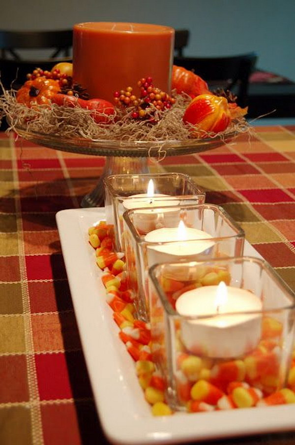 Doller Store Candy Corn Votive Display