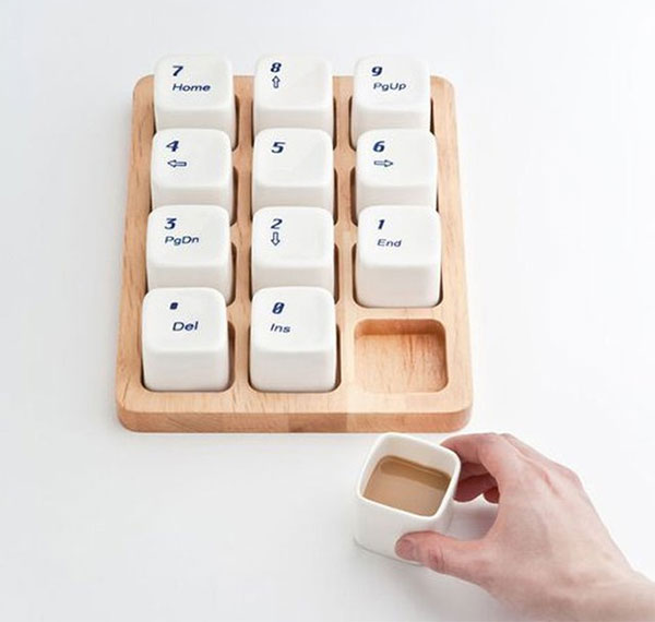 Ctrl Alt Del Keyboard Coffee Cup Set . This a cute and novelty gift for people who loves coffee and computer!