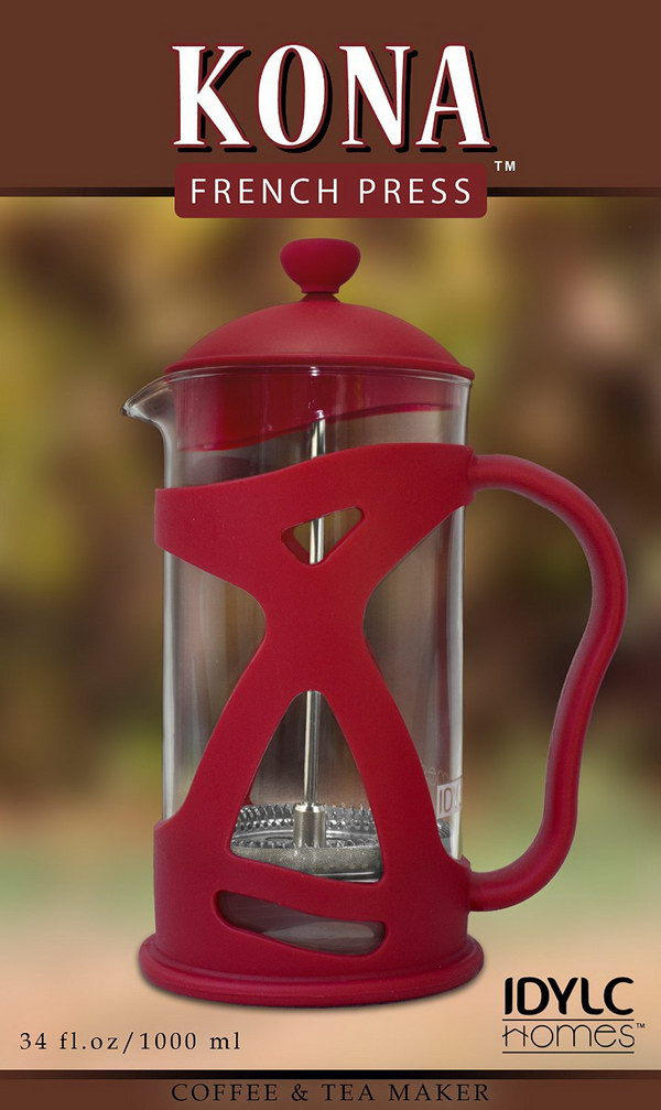 KONA French Press. This makes for great gift ideas for for men or women, if they love to brew coffee espresso or tea.