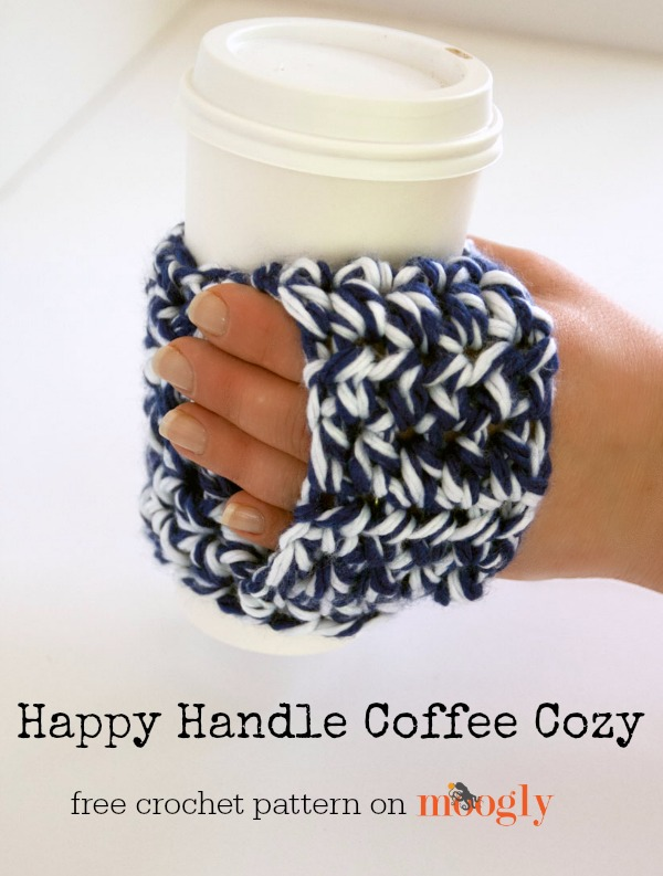 Happy Handle Coffee Cozy. The is great to gift to anyone who loves coffee. It's also just the right size for slipping in a gift card.
