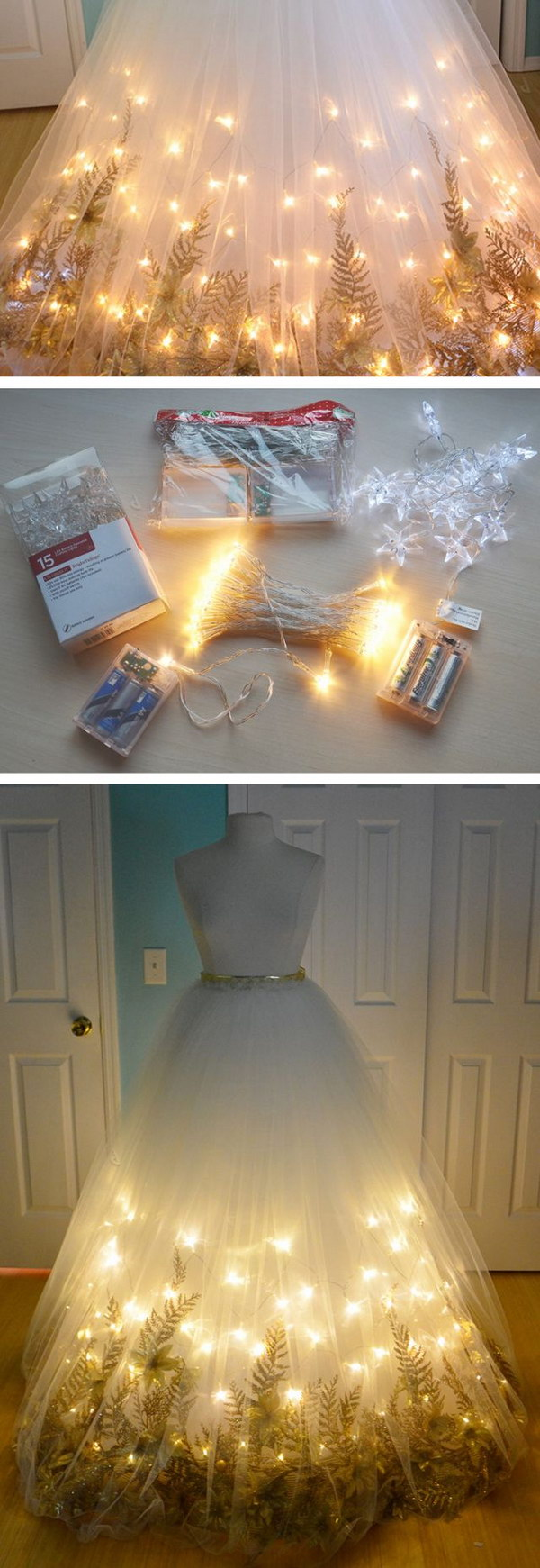 Light Up Fairy Garden Dress Tutorial.