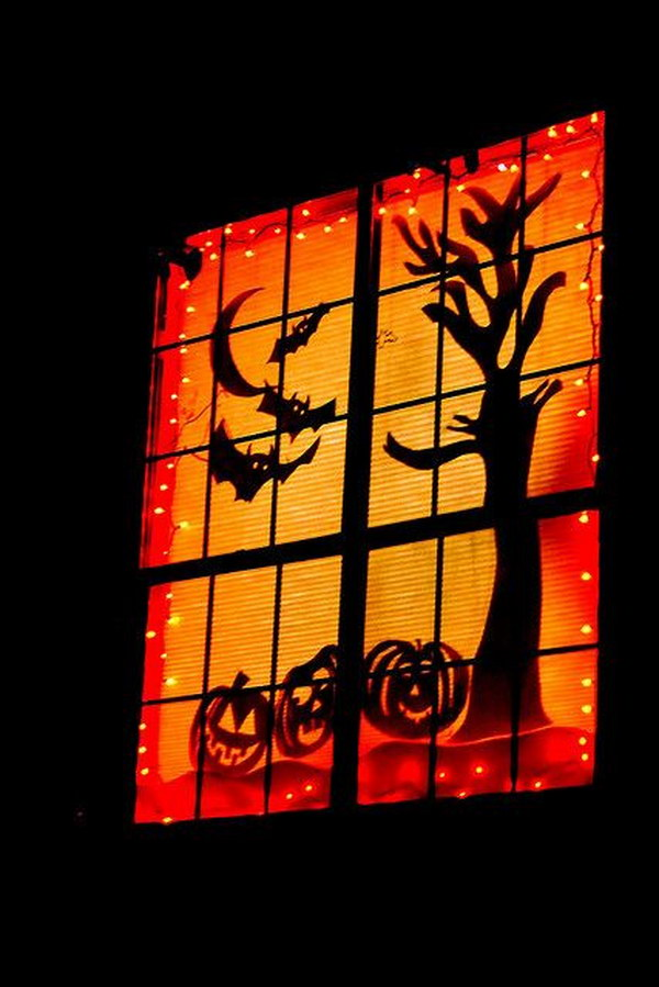 Spooky Halloween Window