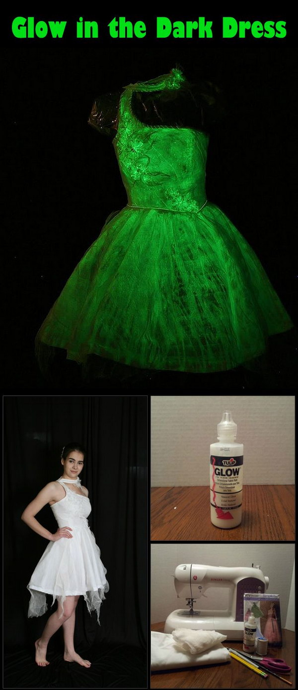 Creative Glow in the Dark Dress