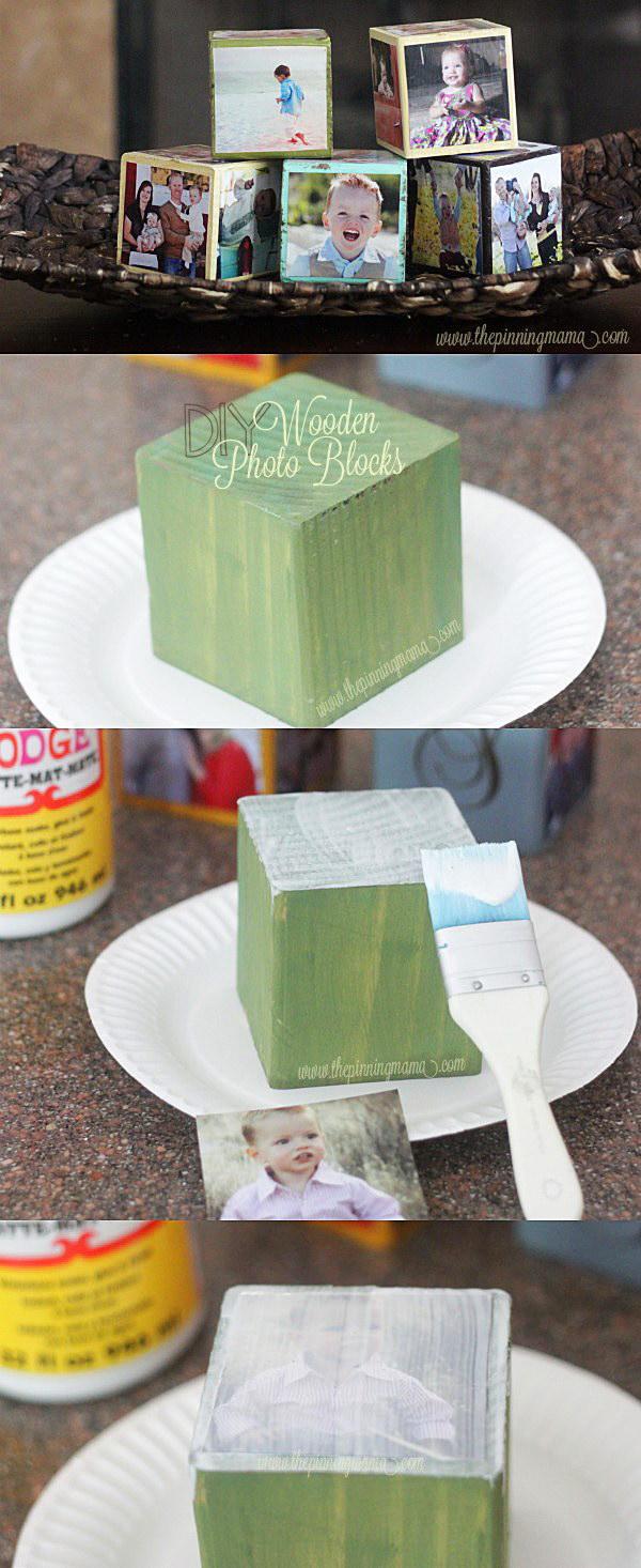DIY Wooden Photo Blocks.