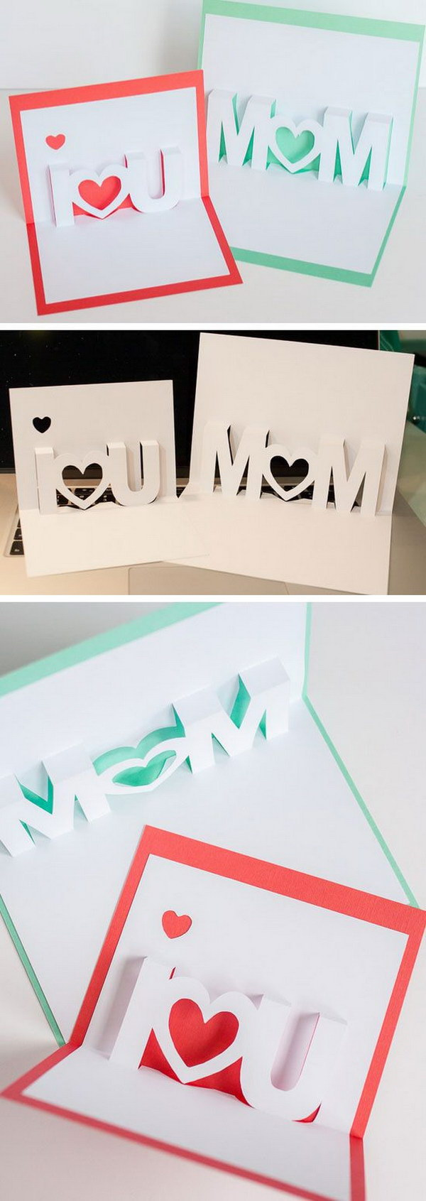 I LOVE YOU POP UP Cards with Free Silhouette Cut Files.