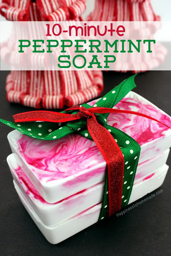DIY Holiday Gift Idea: Peppermint Soap.