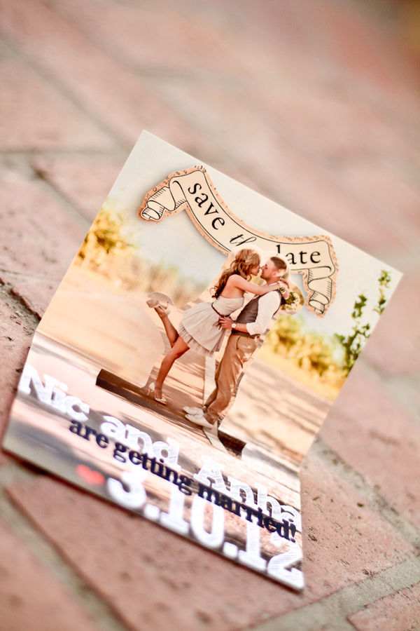 Pop Up Save the Date Card