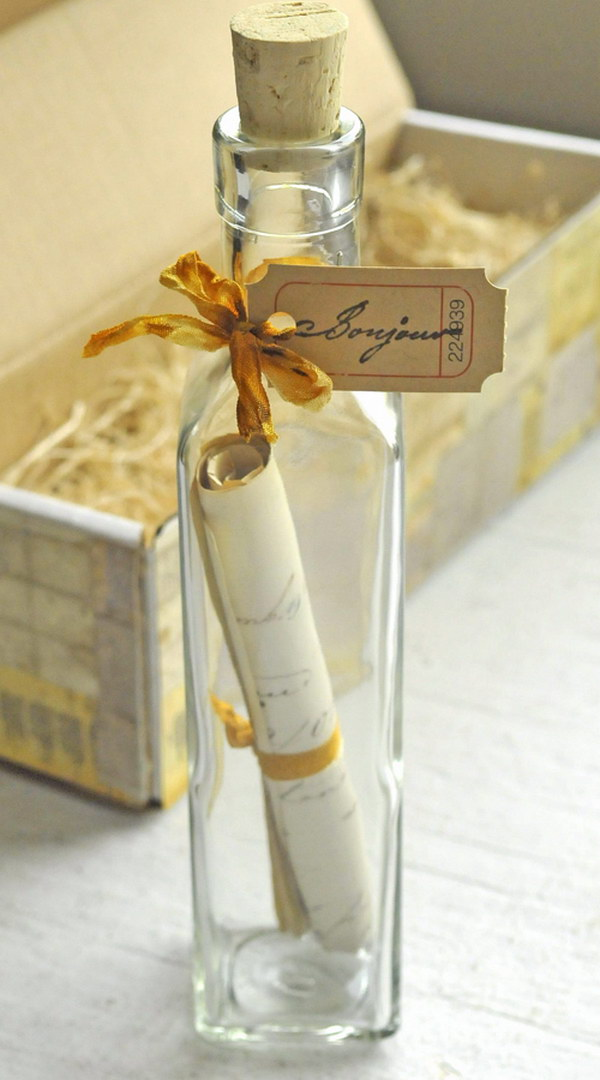 A Message in a Bottle Save the Date
