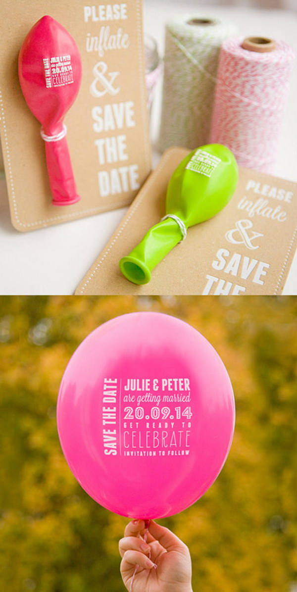 A Balloon Save the Date and Sticker