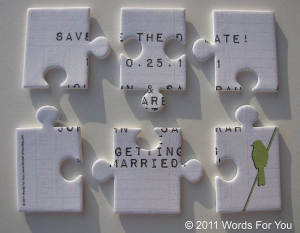 Foam Save the Date Puzzle Message Card