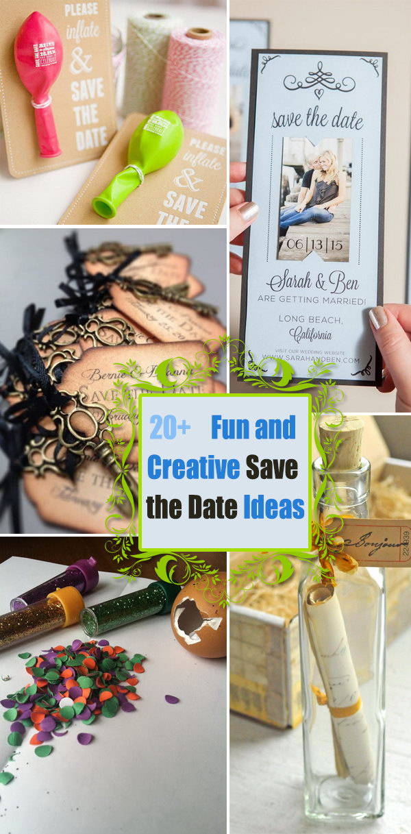 Fun and Creative Save the Date Ideas.