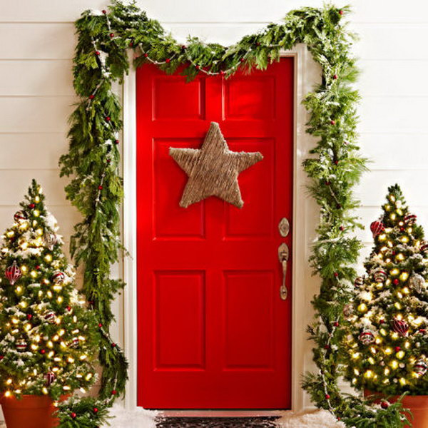 20 diy christmas door decoration ideas
