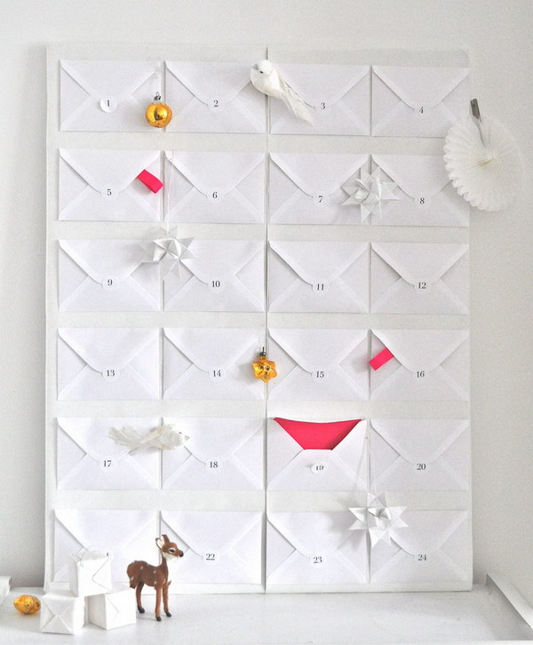 Paper Envelope Christmas Advent Calendar.