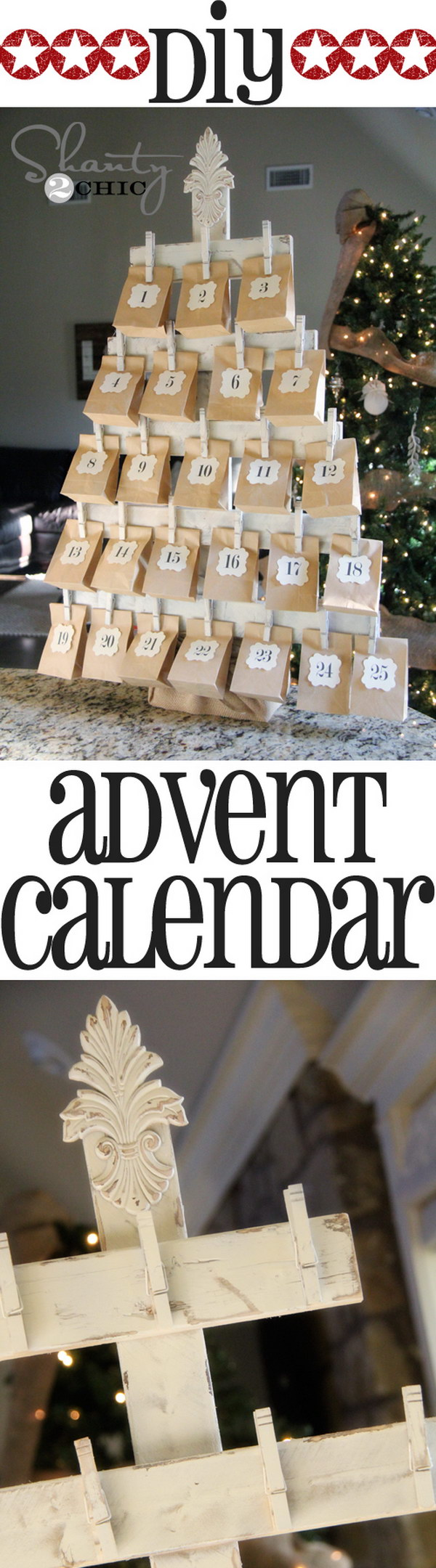 Wood Advent Calendar with FREE Printables.