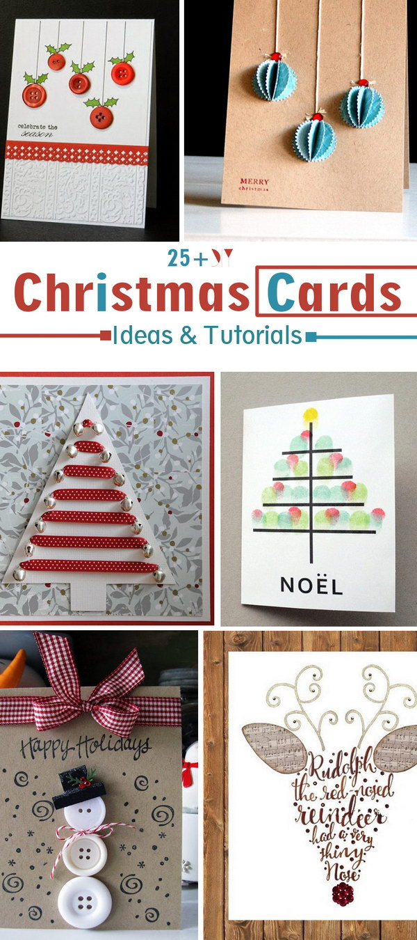 25 diy christmas cards ideas tutorials noted list noted list