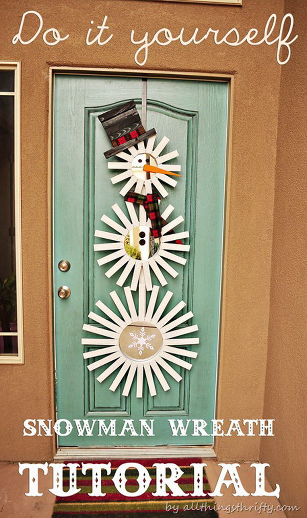 Frosty Inspired Door Decor.