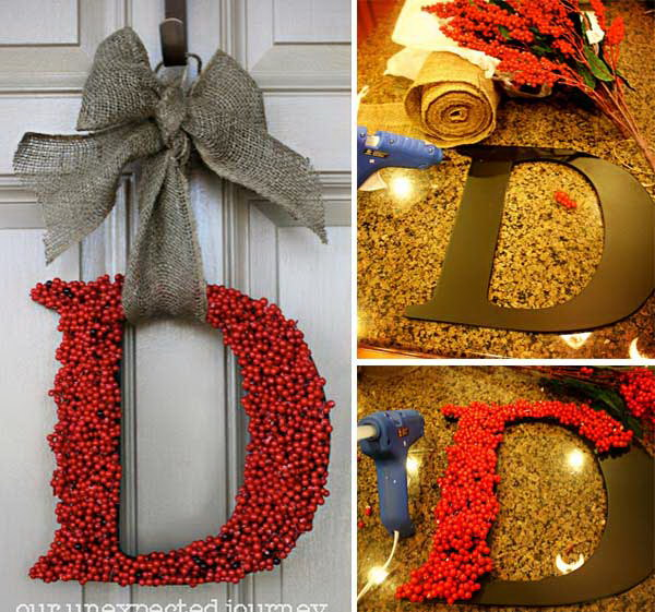 Home Made Modern Pinterest Easy Christmas Decorating Ideas: 20+ Creative DIY Christmas Door Decoration Ideas
