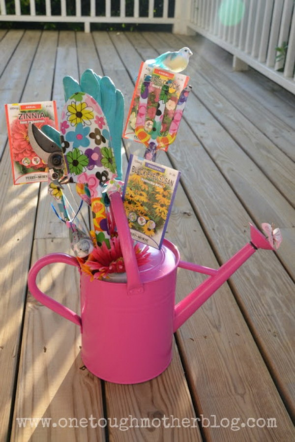 Watering Can Gift Basket.