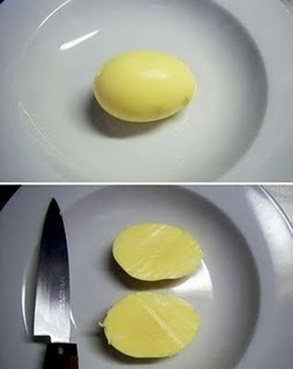 Kitchen Hack for a Golden Egg.