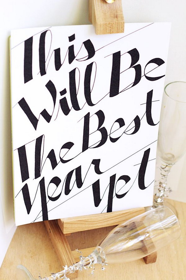 This Will be the Best Year Yet New Years Eve Sign with Free Printable