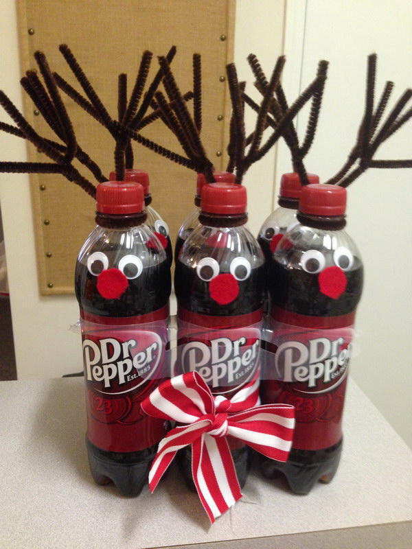 Secret Santa Gift   Dr. Pepper Reindeer.