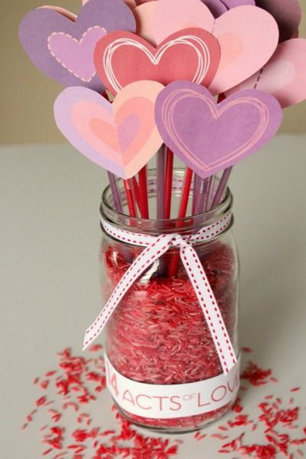 Counting Down to Valentine's with 14 Days of LOVE Mason Jar