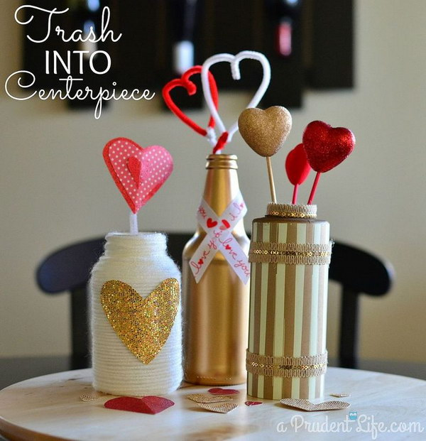 DIY Valentine's Day Centerpiece
