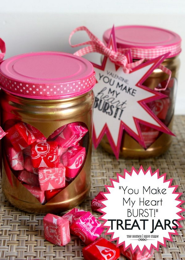 'You Make My Heart Burst!' Valentine Treat Jars
