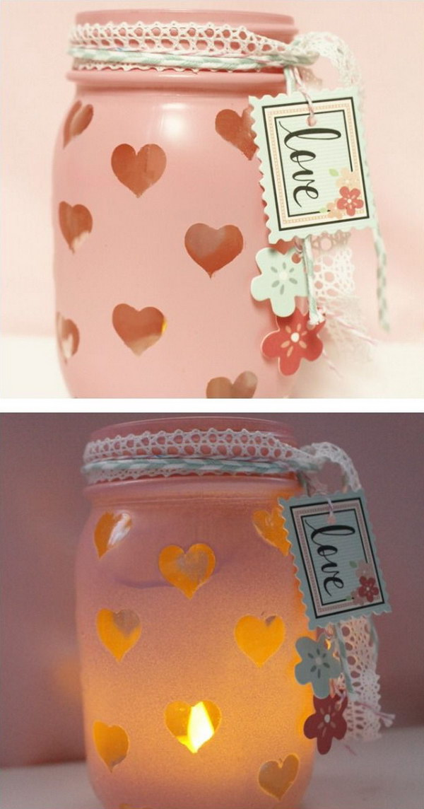 50 Valentine S Day Mason Jar Ideas Tutorials Noted List