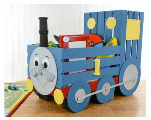 DIY Thomas The Train Storage Crate