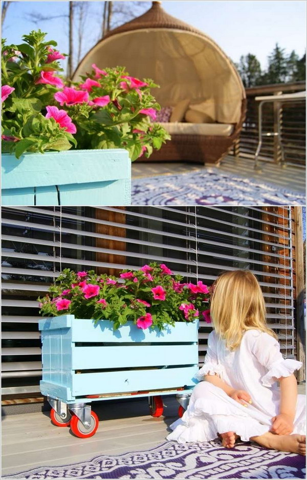 Beautiful Crate Planter Tutorial