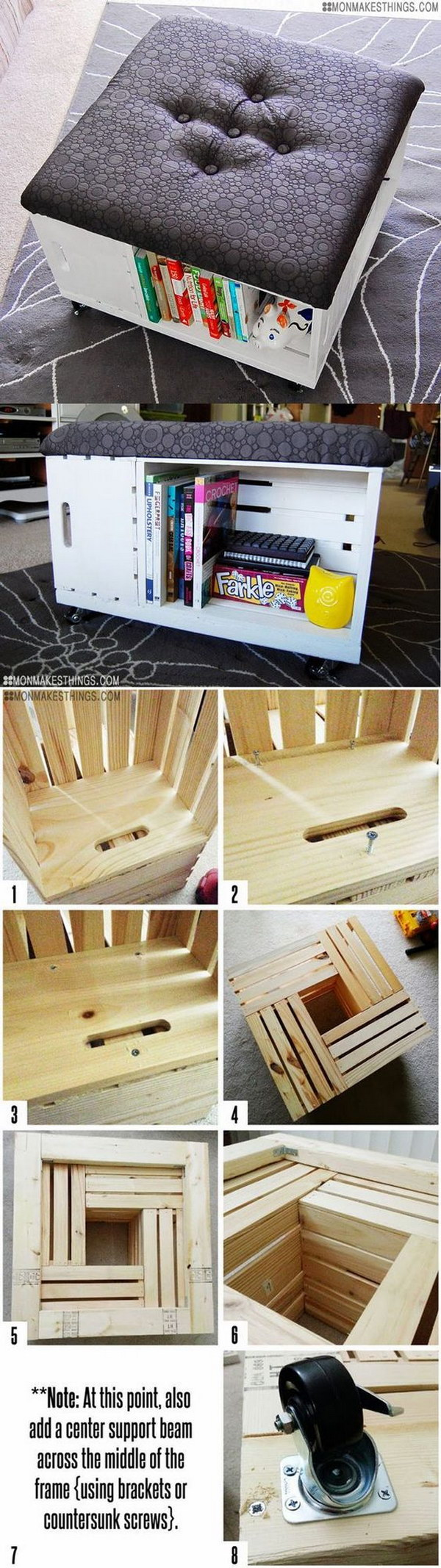 Decorating Ideas > 35 DIY Wood Crate Projects With Lots Of Tutorials  Noted Li ~ 041849_Nifty Dorm Room Ideas
