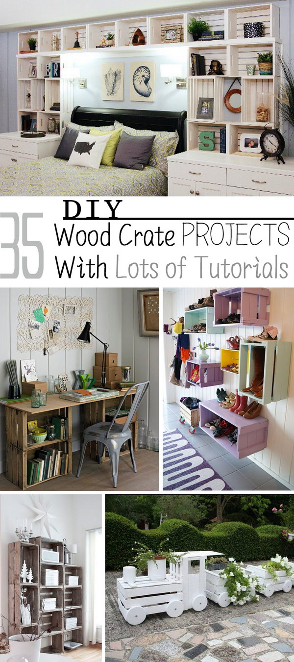 DIY Wood Crate Projects With Lots of Tutorials!