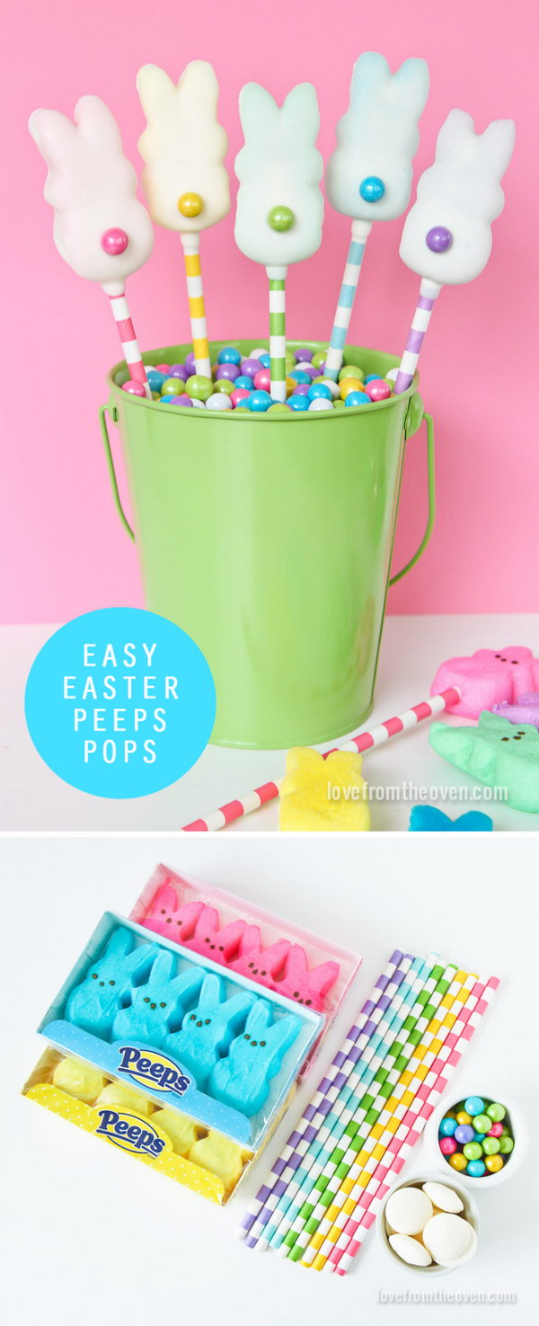 DIY Easter Peeps Pops.