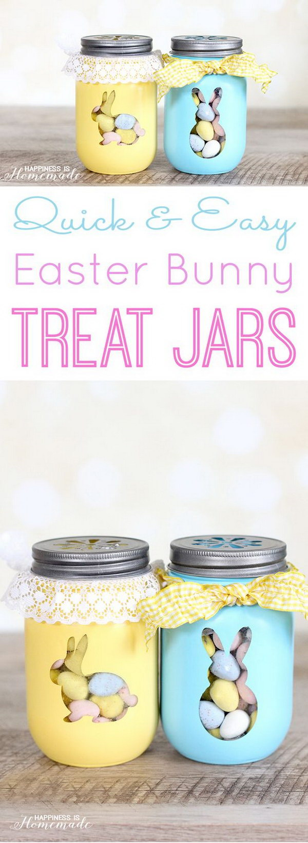 Easter Bunny Treat Jars.